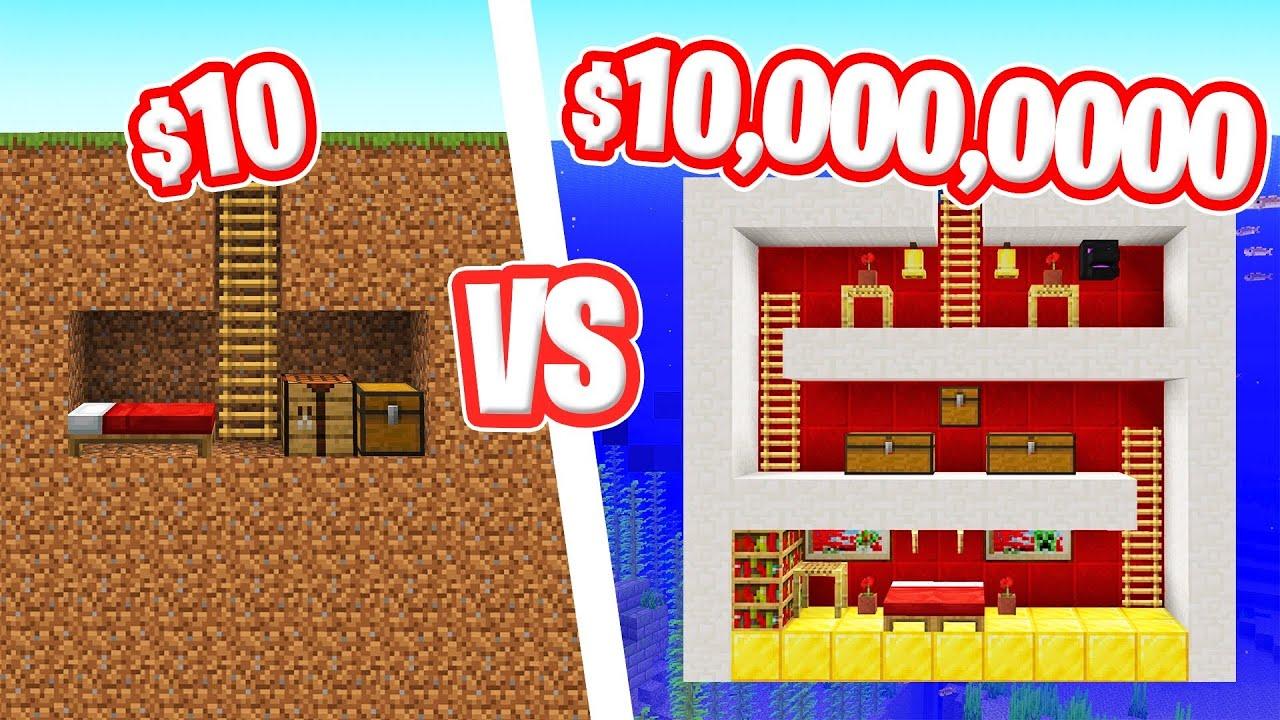 SECRET UNDERGROUND Base BUILD Challenge In MINECRAFT! thumbnail