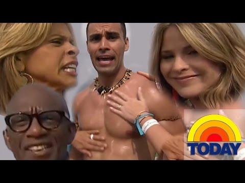 Oily Tonga Olympic Champion rubbed by The Today SHOW