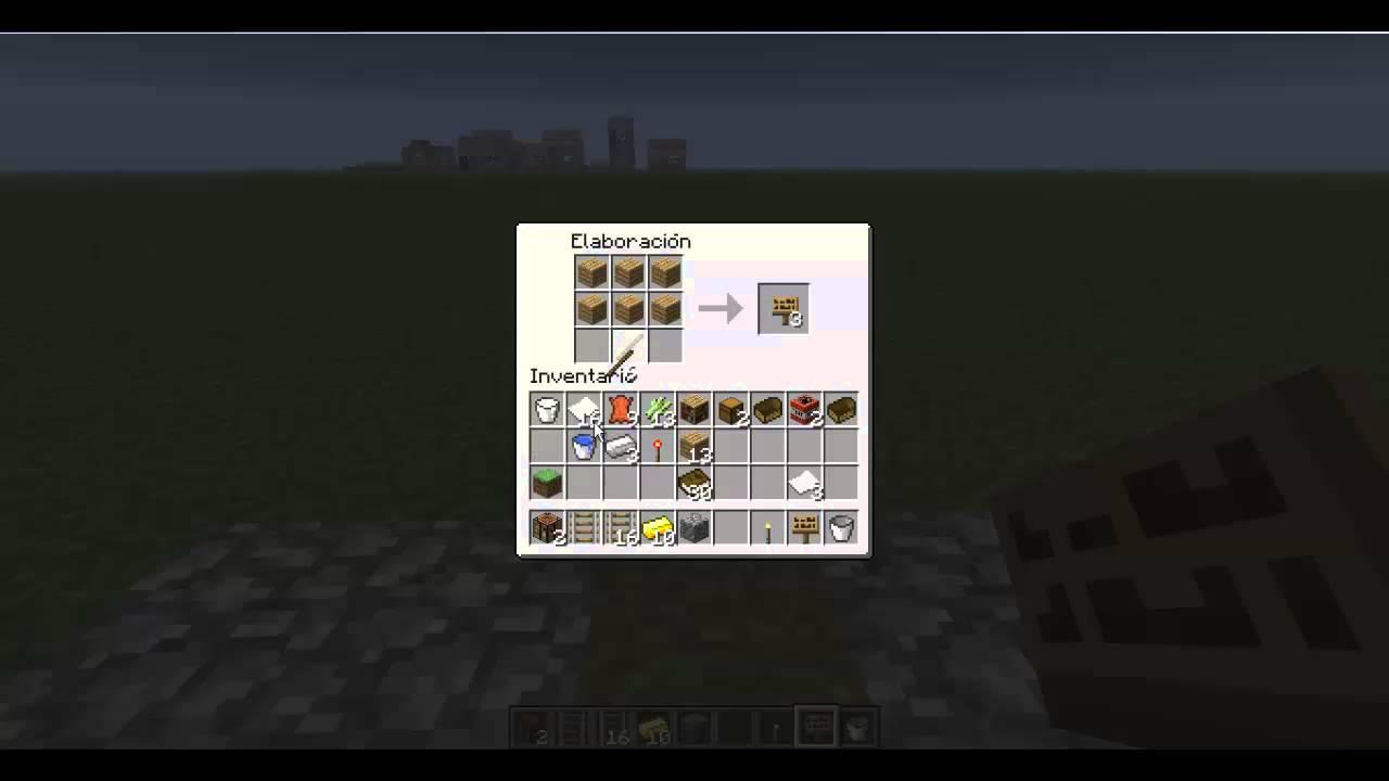 Minecraft como hacer letreros youtube for Como hacer muebles en minecraft