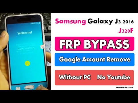 Samsung Galaxy J3 2016 (J320F) Frp Bypass Google Account Remove Without PC