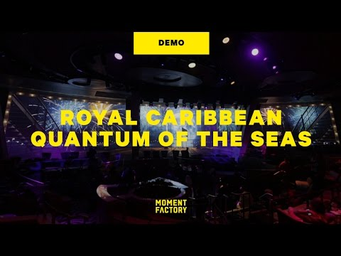 Royal Caribbean, Quantum of the Seas: Two70's  Vistarama, Roboscreens & Starwater show [DEMO]