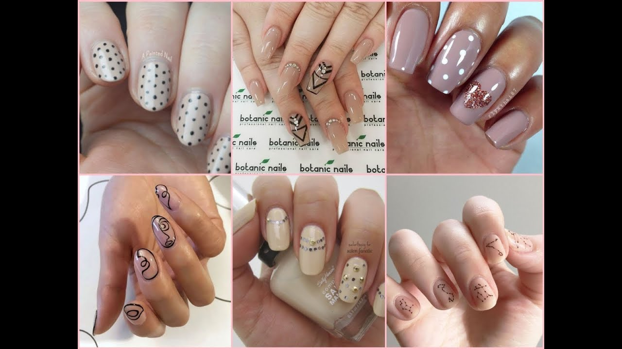 35 lovely nude nail art compilation 2017 new nail art design 35 lovely nude nail art compilation 2017 new nail art design prinsesfo Choice Image