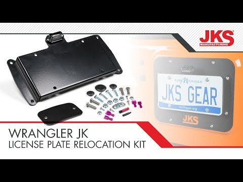 Jeep JK License Plate Relocation   How to Install