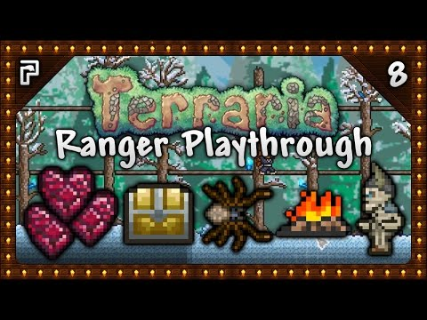 🌳 Terraria 1.3.4 Let's Play | Ranger Playthrough | Spiders, Health & Gear Upgrades! [Episode 8]