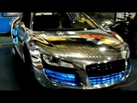 Full Chrome Audi R Paint Job W LEDs YouTube - Audi car jobs