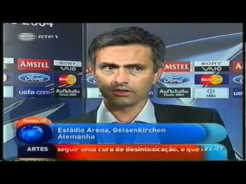 Champions League 2003/04 Final - Flash Interview Mourinho + Deco