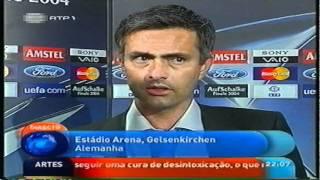 vuclip Champions League 2003/04 Final - Flash Interview Mourinho + Deco