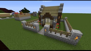 minecraft cozy cottage town