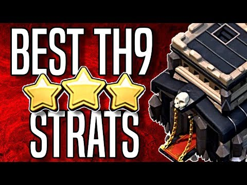 TOP 4 TH9 Supercell CWL Attack Strategies   Clash of Clans