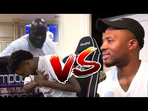 SHAQ vs DAMIAN LILLARD DISS TRACK BATTLE  REACTION(ROUND 1)
