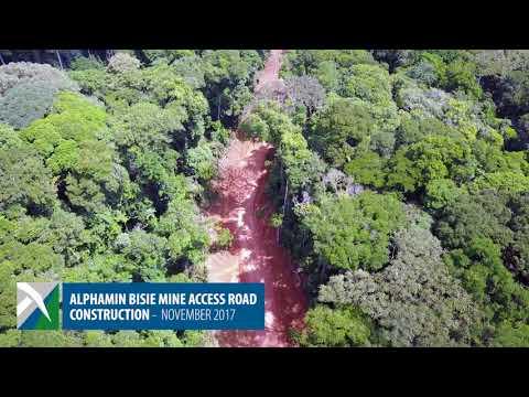 Alphamin Bisie Mine Access road construction November 2017