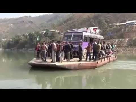 Ferry, Alternative bridge to across the bus, Arun river, Leguwa