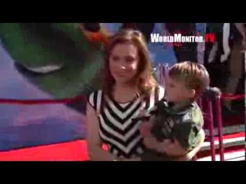 Alyssa Milano and adorable son arrive at Disney's Planes Los Angeles premiere