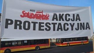 Protest pracowników MZK