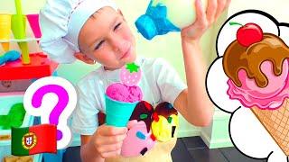 Mania faz sorvete de frutas
