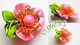 Flores kanzashi para meninas – Flower Ribbon – Olga Ivanova