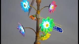led꽃 가로등 초대형꽃 디자인센스 조명숙플라워 자이언…