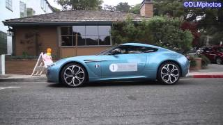 2 Blue Aston Martin V12 Zagatos Overview and Driving!  - Monterey Auto Week 2014