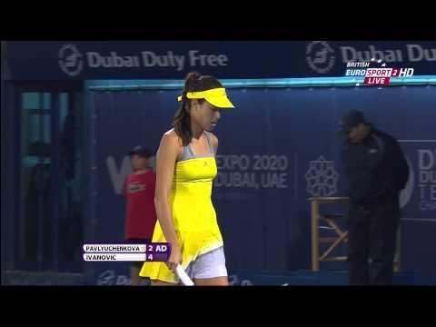 Ana Ivanovic & Anastasia Pavlyuchenkova WTA HD 18-02-13 Sweaty