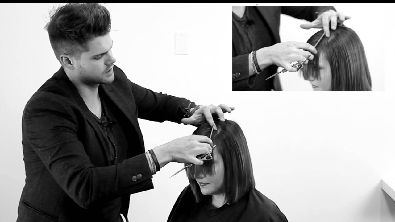 Cutting A Perfect Side Bang How To Cut A Side Swept Bang