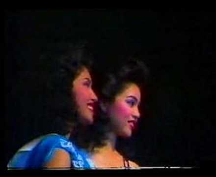 Miss Thailand 1987 Crowning Moment
