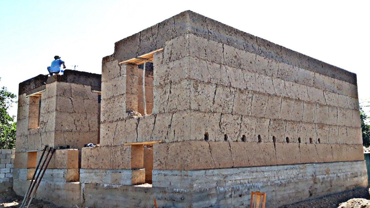 строительство стен глинянных домов