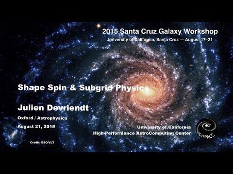 Shape Spin & Subgrid Physics - Julien Devriendt
