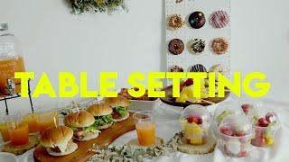 키즈파티(생일파티)- 네츄럴 테이블 세팅 하는 법/Ki…