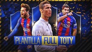 PLANTILLA FULL TOTY ( 20 millones de monedas) FIFA 17