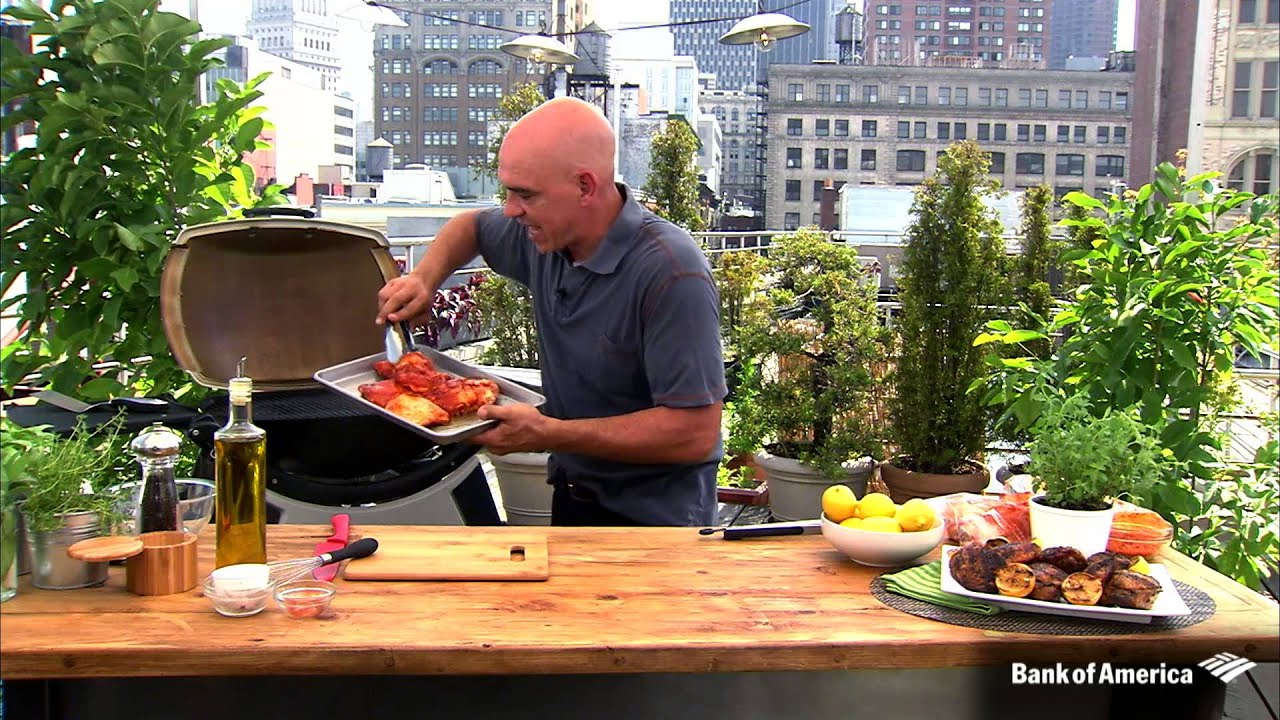 Chef Michael Symon #123BBQ BofA Summer Series: Grilled Chicken Thighs with Lemon and Oregano