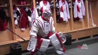 Александр Овечкин встал на ворота(Нападающий сборной России по хоккею и клуба НХЛ «Вашингтон Кэпиталз» Александр Овечкин попробовал силы..., 2014-02-01T06:08:07.000Z)