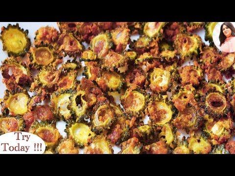 Crispy Karela chips, Bitter Gourd Chips Recipe, Wafers, Snacks, Crispy Karela Fry,  कुरकुरे करेला