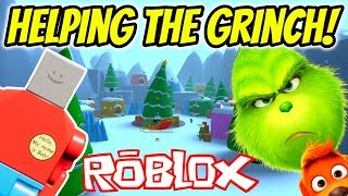 BILLY BOB HELPS THE GRINCH In Roblox Obby The Grinch Obby Roblox Gameplay