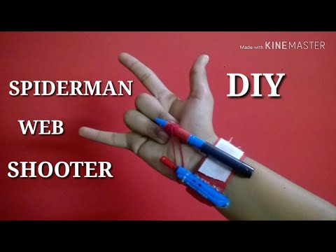 How to make a SPIDERMAN WEB SHOOTER|DIY|