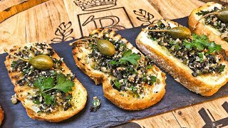 Брускетта с маслинами рецепт