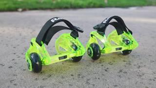 Razor Jetts DLX Heel Wheels Ride Video