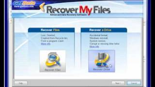 Hard Drive Data Recovery with Recover My Files v4