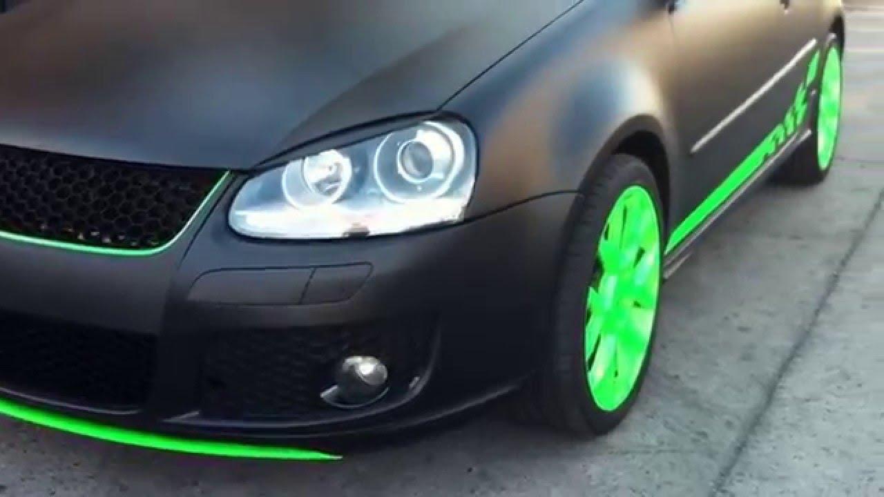 Proyecto Mate Black Volkswagen Golf Gti Youtube