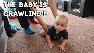 The Baby&#39s Crawling  2020 Vlog #17  That Chick Angel TV