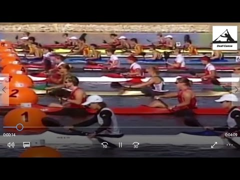 2004 Olympic Athens Canoeing Woman's K-4 500 m Final. & Victory Ceremony. (16:9)