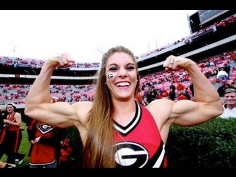 Anna Watson Cheerleader: Sexy FBB Female Muscular Biceps, Not Steroids