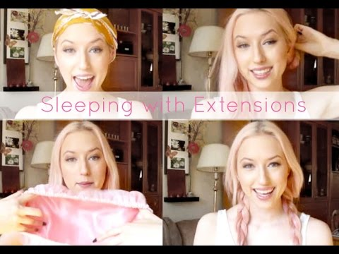 Sleeping With Hair Extensions Wrapping Your Hair Youtube