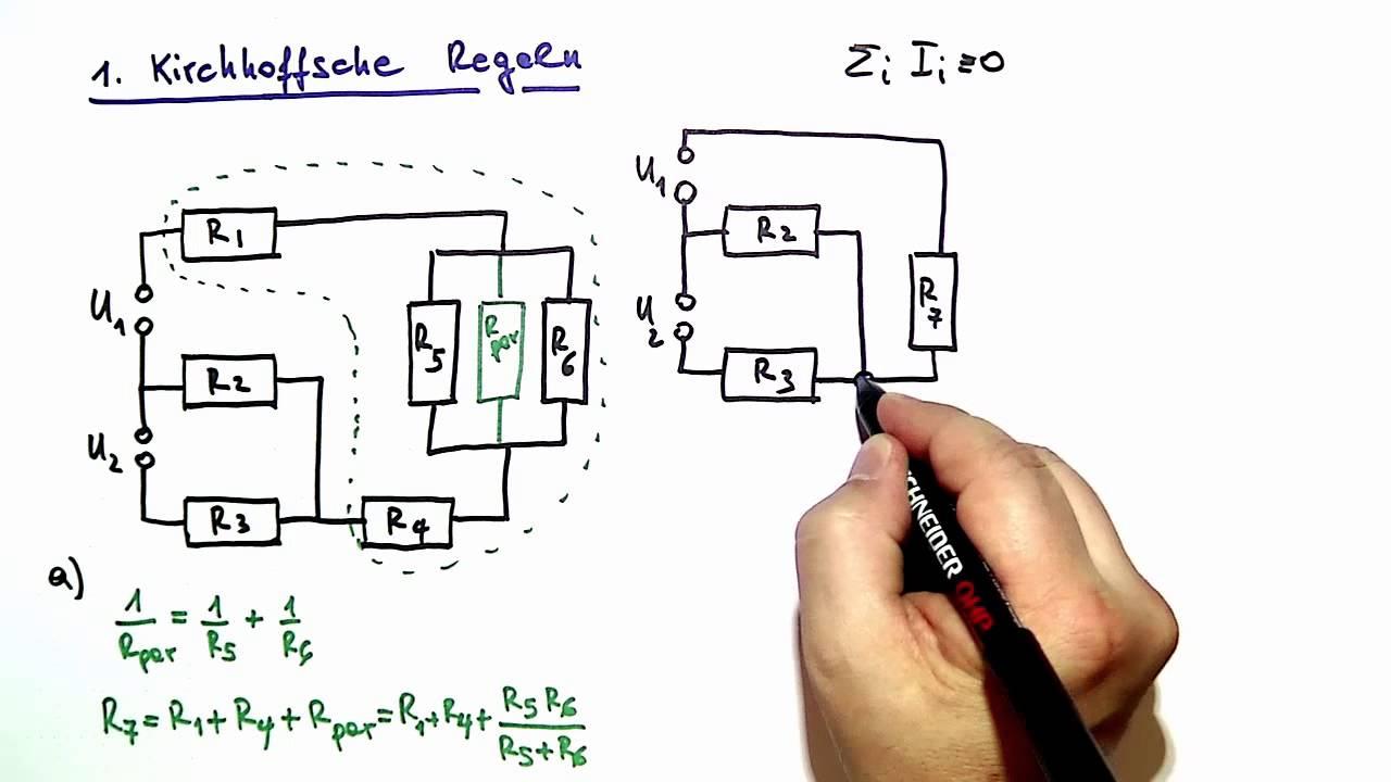 Kirchhoffsche Regeln ☆ Beispiel-Aufgabe & Lösung ☆ Physik ...