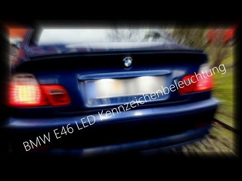 led kennzeichenbeleuchtung bmw e46 youtube. Black Bedroom Furniture Sets. Home Design Ideas