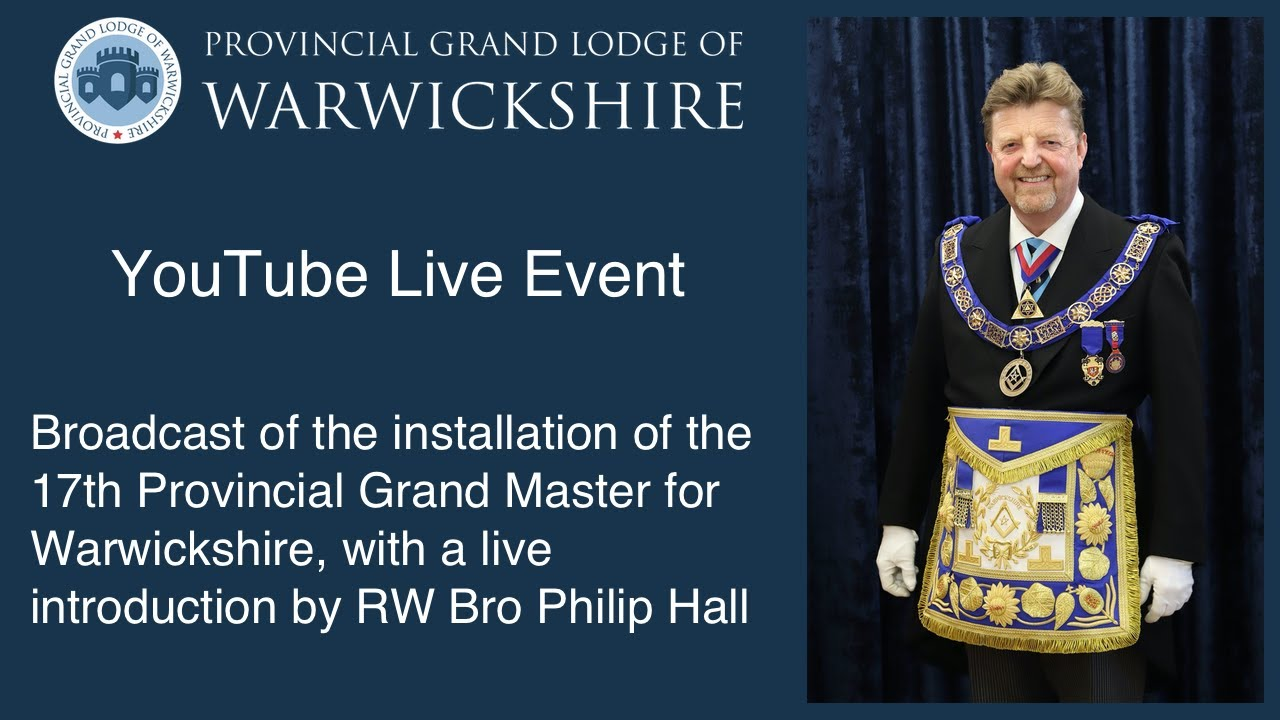 The Installation of the Provincial Grand Master for Warwickshire