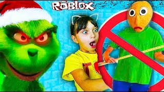 Why the GRINCH Spoiled BALDI NEW YEAR? Robloks THE GRINCH Who Is SANTA CLAUS? Roblox Valerishka