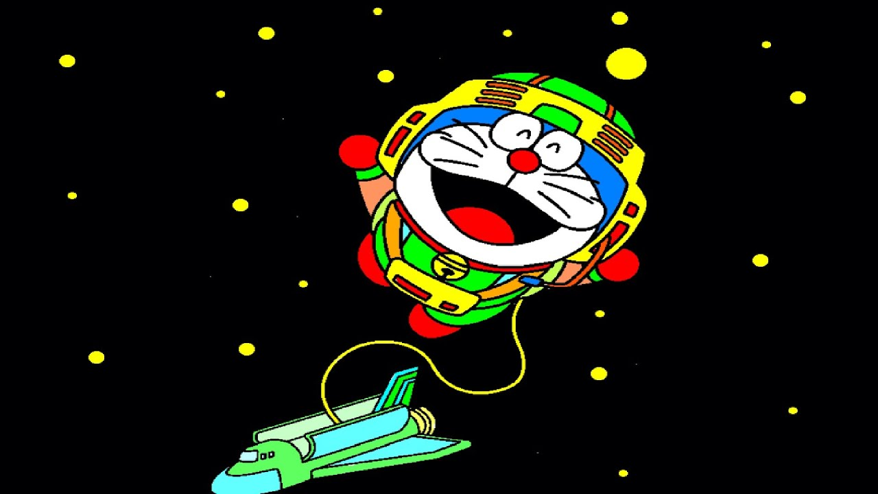 Doremon Astronaut In Space Coloring Pages Coloring Book