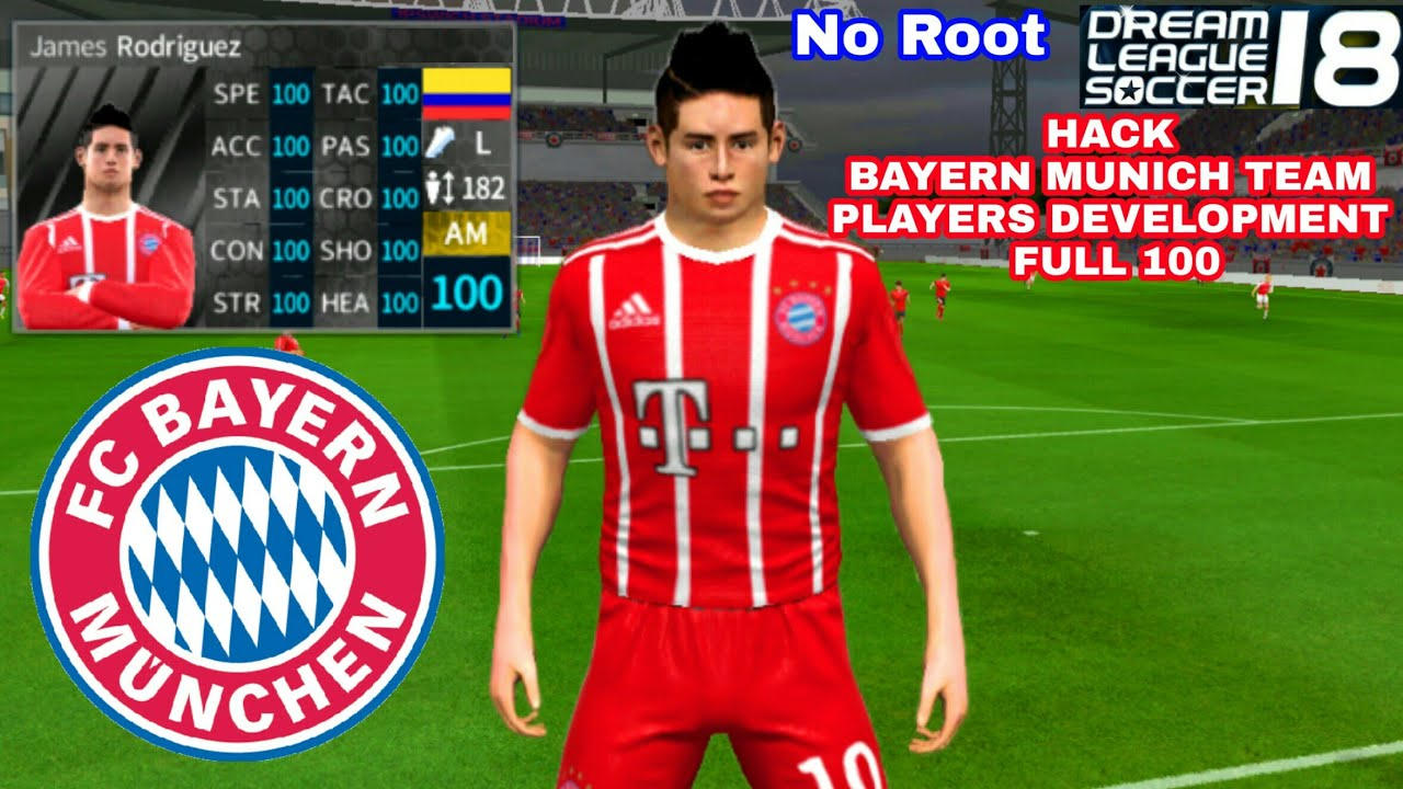 new style f902e b406f How To Hack BAYERN MUNICH Team 2018 ● All Players 100 & Kits Logo ● Dream  League Soccer 2018