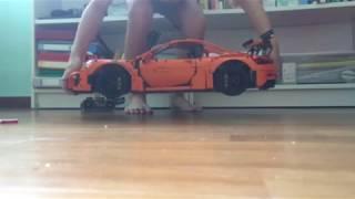 LEGO technic Porsche 4cm drop test