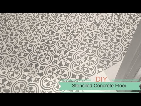 How To Stencil A Concrete Floor